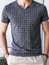Load image into Gallery viewer, Men Basic Plaid T-Shirt