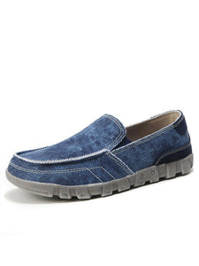 Men Casual Slip-on Flat Canvas Shoes