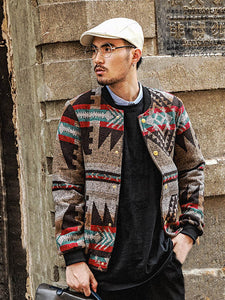 Men Popular Warm Printing Jacket