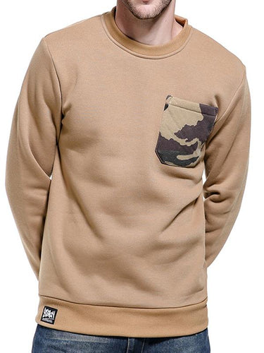 Men Camouflage Pocket Casual Sweatshirt