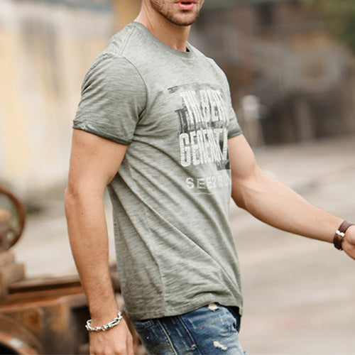 Men Simple Short Sleeve T-Shirts