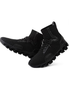 Men Solid Casual Lace-Up Athletic Shoes