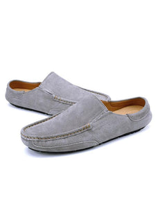 Solid Slip-on Casual Flat Shoes