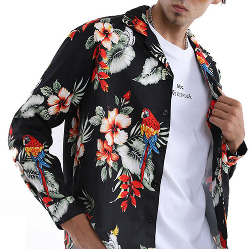 Men Casual Style Printed Blouses