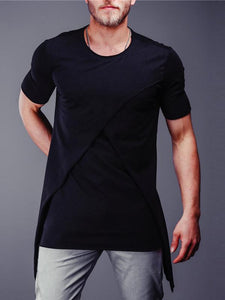 Men Round Neck Short Sleeves T-Shirt