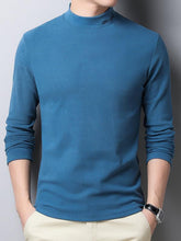 Load image into Gallery viewer, Men Solid Knitted Sweater Tops