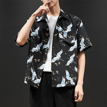 Load image into Gallery viewer, Men Short Sleeves Printed Shirt