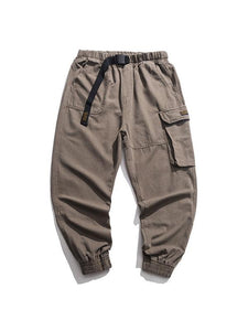 Men's Solid Street Style Loose Pants