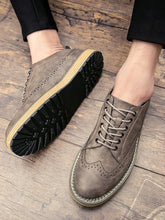 Load image into Gallery viewer, Men Casual Lace-up Flat Shoes