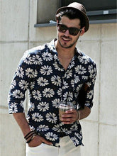 Load image into Gallery viewer, Men Floral Printed Hippie Style Shirt