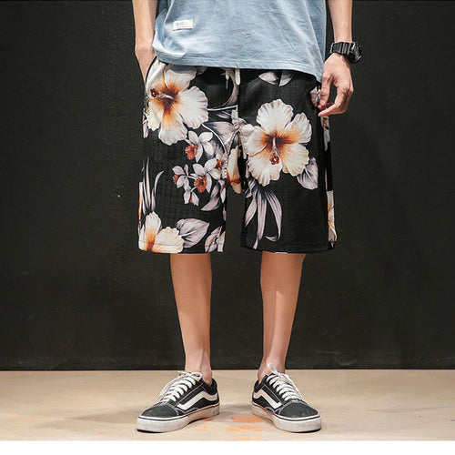 Men Casual Floral Shorts