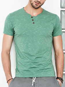 Men Basic Round Neck Solid T-Shirt