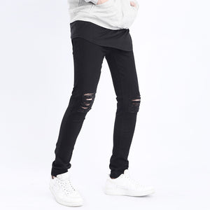 Men Black Ripped Jeans