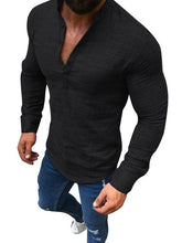 Load image into Gallery viewer, Men V Neck Casual Polo Top