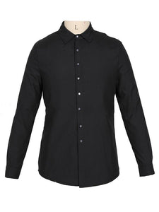 Men's Solid Long Sleeve Blouse Shirts