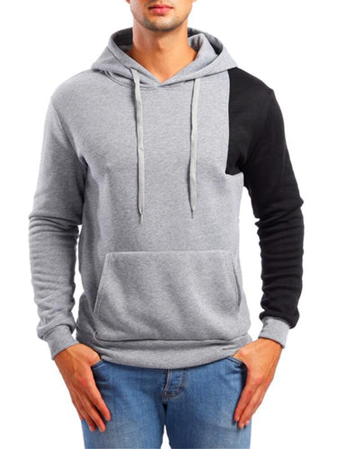 Men Asymmetric Sleeves Hoodie Sweatshirt