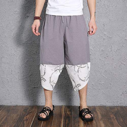 Men Flax Loose Harem Pants
