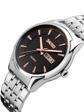 Load image into Gallery viewer, Skmei 9125 Men Stainless Steel Waterproof Business Quartz Watch