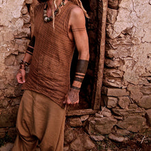 Load image into Gallery viewer, Men Tribal Embroidery Sleeveless Vest Top