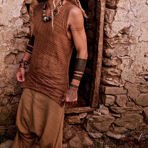 Men Tribal Embroidery Sleeveless Vest Top