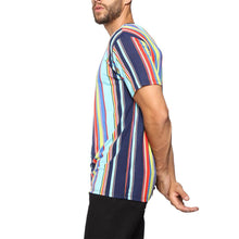 Load image into Gallery viewer, Men Short Sleeves Basic Color Striped T-Shirt
