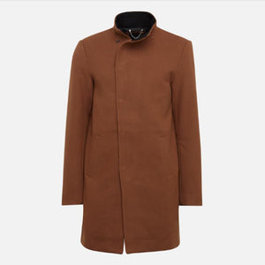 Men Solid Outerwear Windbreaker Coat