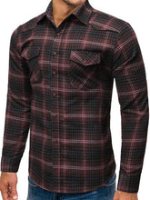 Load image into Gallery viewer, Men Grid Printing Business Shirt