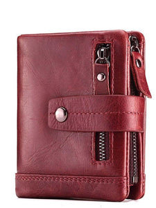 Solid Zipper Multi-layer Wallet