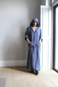 Men Hooded Loose Robe