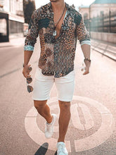 Load image into Gallery viewer, Men Long Sleve Printing Casual Shirt