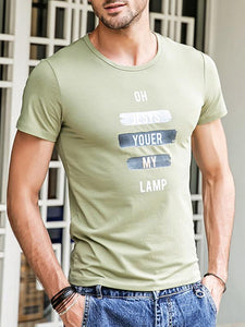Men Casual Printed Tee