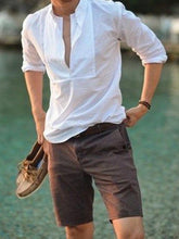 Load image into Gallery viewer, Men V Neck Solid Shirt