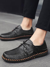 Load image into Gallery viewer, Men Lace-up Casual Comfortable Leather Loafers Shoes