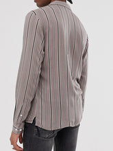 Load image into Gallery viewer, Men Striped Print Long Sleeve Shirt