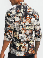 Load image into Gallery viewer, Men Long Sleeve Printing Vintage Shirt