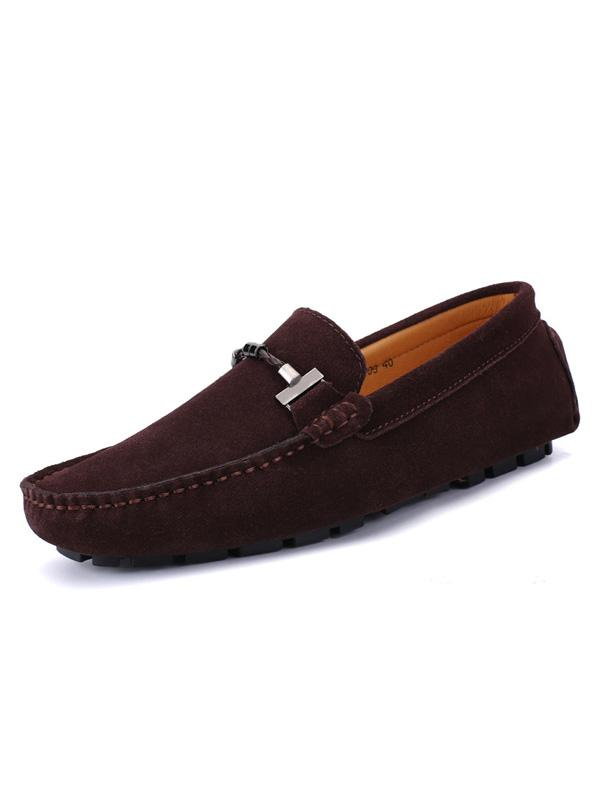 Solid Slip-on Simple Casual Loafers Flat Shoes