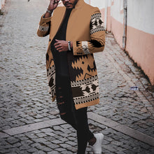 Load image into Gallery viewer, Men Casual Printed  Long Outerwear  Coat