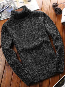 Men High Neck Sweater Tops