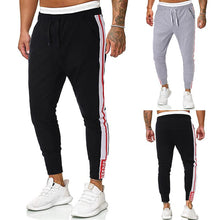 Load image into Gallery viewer, Men Casual Striped Tapered Pants Slim
