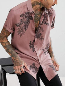 Men Printed Short Shirt