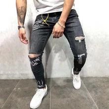 Load image into Gallery viewer, Men Printed Solid Jeans