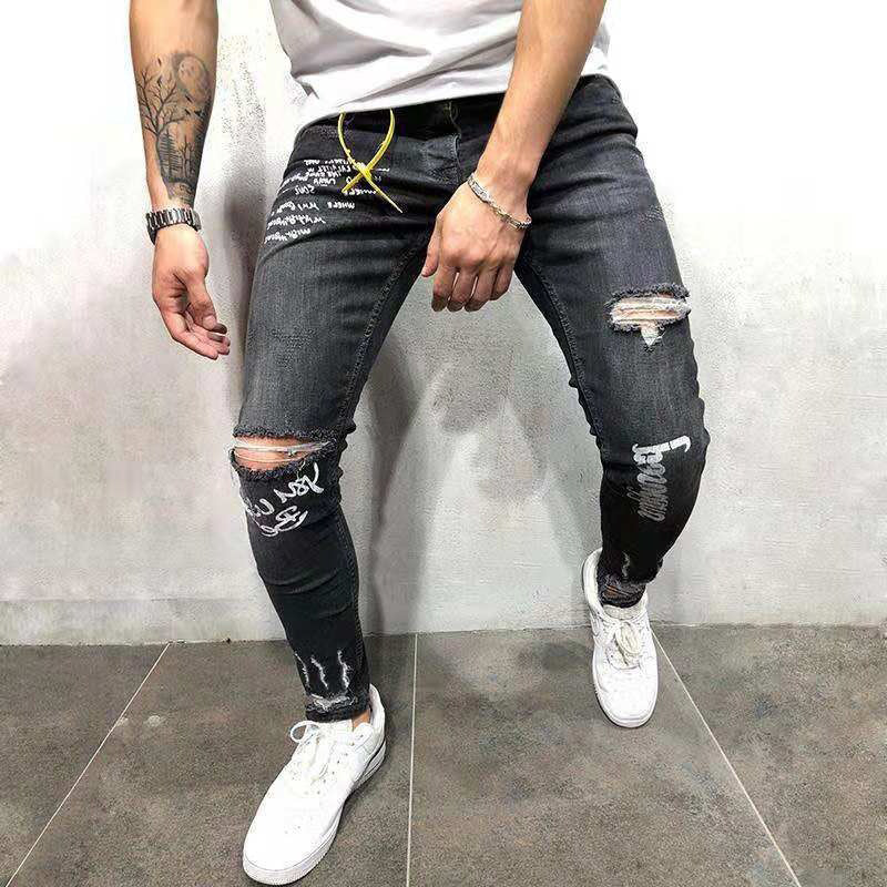 Men Printed Solid Jeans