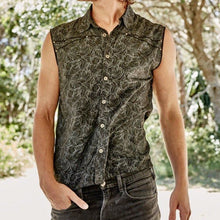 Load image into Gallery viewer, Men Holiday Style Printed Sleeveless Shirt