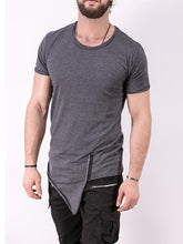Load image into Gallery viewer, Men Round Neck Asymmetric T-Shirt