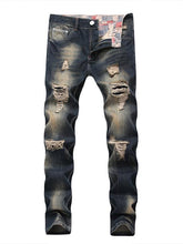 Load image into Gallery viewer, Men Casual Destroyed Ripped Denim Jeans