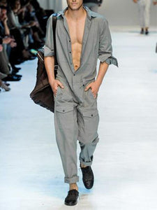 Men Loose Overalls Jumpsuit