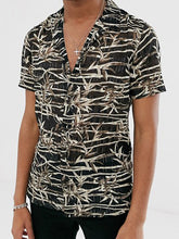 Load image into Gallery viewer, Men Short Sleeves Print Shirt
