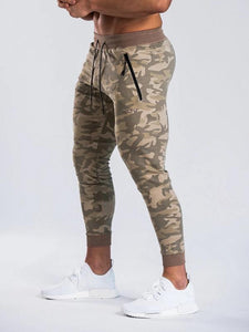 Men Camouflage Tapered Sport Pants