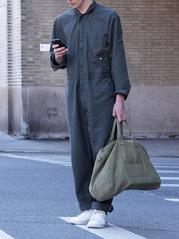 Men Casual Long Sleeves Overalls Jumpsuit