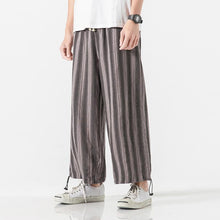 Load image into Gallery viewer, Men Casual Striped Harem Pant